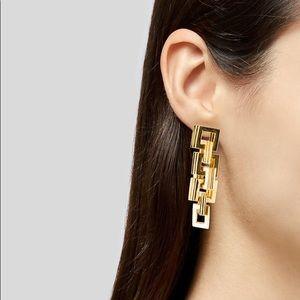 Eddie Borgo Helix Link Drop Earrings 18K Gold